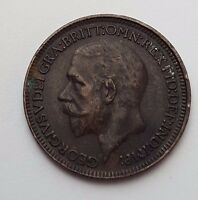 DATED : 1932   COPPER   ONE FARTHING   COIN   KING GEORGE V   GREAT BRITAIN