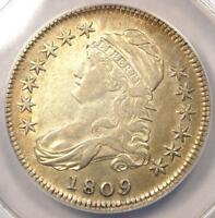 1809 CAPPED BUST HALF DOLLAR 50C O 105   ANACS XF40 DETAILS EF   NICE LUSTER