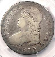 1813 CAPPED BUST HALF DOLLAR 50C   PCGS F12 PQ    EARLY DATE COIN