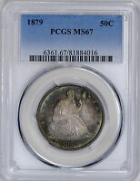 1879 LIBERTY SEATED 50C PCGS MS 67