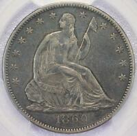 1860 O SEATED LIBERTY HALF DOLLAR PCGS XF40   DOUBLEJCOINS   RR31