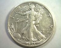 1943-D/D NORTH, NOT LISTED WALKING LIBERTY HALF ABOUT UNCIRCULATED AU ORIGINAL