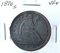 1870 S SEATED LIBERTY HALF DOLLAR   NICE VF/XF TYPE COIN   MAKE OFFER
