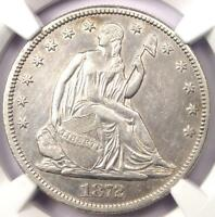 1872 CC SEATED LIBERTY HALF DOLLAR 50C COIN   CERTIFIED NGC AU DETAILS