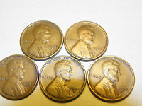 1920-S,1923-S,1925-D,1928 1928-S LINCOLN ALL VF