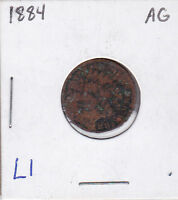 1884 INDIAN HEAD CENT L1