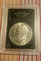 1776  1976 AUTHENTICATED BRILLIANT UNCIRCULATED EISENHOWER DOLLAR