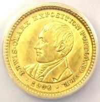 1904 LEWIS & CLARK GOLD DOLLAR G$1 - CERTIFIED ANACS AU50 DETAILS -  COIN