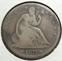 1874 S SEATED HALF DOLLAR   NICE SILVER     MEMORIAL DAY SALE