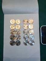 2001   2010 P&D KENNEDY HALF DOLLARS UNC. FROM US MINT BAG 20 COINS   REDUCED