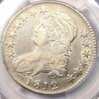 1812 CAPPED BUST HALF DOLLAR 50C COIN   CERTIFIED PCGS VF25      LOOKS XF