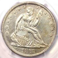 1869 SEATED LIBERTY HALF DOLLAR 50C   CERTIFIED PCGS AU DETAILS    COIN