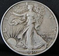 CIRCULATED 1939 D WALKING LIBERTY HALF DOLLAR 2