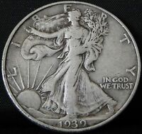 CIRCULATED 1939 D WALKING LIBERTY HALF DOLLAR 3