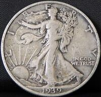 CIRCULATED 1939 S WALKING LIBERTY HALF DOLLAR
