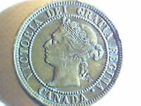 1888 CANADIAN ONE CENT COIN WITH QUEEN VICTORIA