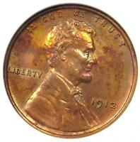 1912 PROOF LINCOLN WHEAT CENT PENNY 1C   ANACS PROOF DETAILS NET PF60 / PR60