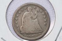 1854 H10C LIBERTY SEATED HALF DIME V.G. COIN. DATE IN ROCK VARIETY. SALE 2182