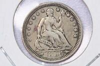 1854 H10C LIBERTY SEATED HALF DIME V.F. CIRCULATED COIN. LARGE STORE SALE2180