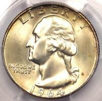1964 D WASHINGTON QUARTER 25C   CERTIFIED PCGS MS66 PQ PLUS GRADE   $285 VALUE