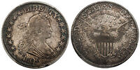 USA 1806 AR DRAPED BUST HALF DOLLAR PCGS VF35 POINTED-TOP 6, OVERTON 119. TONED
