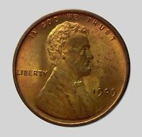 STUNNING RED 1909 V.D.B. LINCOLN WHEAT CENT BEAUTIFUL UNCIRCULATED COIN