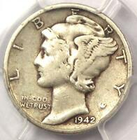 1942/1 D MERCURY DIME 10C   PCGS VF DETAILS    OVERDATE VARIETY COIN