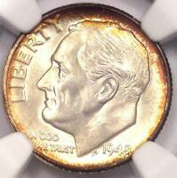 1948 ROOSEVELT DIME 10C   CERTIFIED NGC MS67 PQ PLUS GRADE    IN MS67