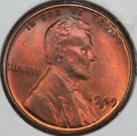 1949 D LINCOLN WHEAT CENT UNCIRCULATED   PURPLE TONING DOUBLEJCOINS 587A10