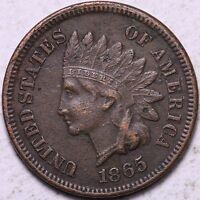 1865 INDIAN HEAD CENT PENNY  SHARP K1ACB