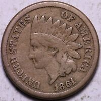 FINE 1861 INDIAN HEAD CENT PENNY R2WCF