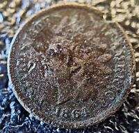 1864 BRONZE INDIAN CENT