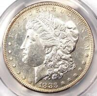 1883 S MORGAN SILVER DOLLAR $1   PCGS UNCIRCULATED DETAILS    IN UNC/MS