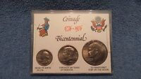 US UNCIRCULATED BICENTENNIAL 1776 1976 COINAGE SET W/ CASE