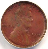 1914 D LINCOLN WHEAT CENT 1C   ANACS XF40 DETAILS EF40    CERTIFIED PENNY
