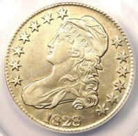 1828 CAPPED BUST HALF DOLLAR 50C O 112   CERTIFIED ANACS XF45 DETAILS EF45