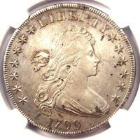 1799 DRAPED BUST SILVER DOLLAR $1   NGC AU DETAILS    COIN   NEAR MS/UNC
