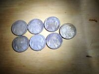 AT21 SIX 1916 D AND ONE 1916 S BUFFALO NICKEL ACID WASHED