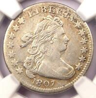 1807 DRAPED BUST DIME 10C COIN JR-1 - CERTIFIED NGC VF DETAILS -  - NEAR EXTRA FINE