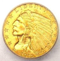 1912 INDIAN GOLD QUARTER EAGLE $2.50   ICG MS63    IN MS63   $1,130 VALUE