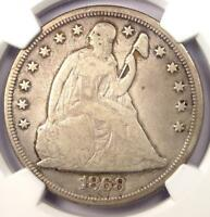 1868 SEATED LIBERTY SILVER DOLLAR $1 - NGC FINE DETAILS -  CERTIFIED COIN