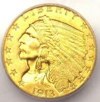 1913 INDIAN GOLD QUARTER EAGLE $2.50   ICG MS64    IN MS64   $1,280 VALUE