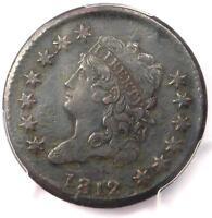 1812 CLASSIC LIBERTY HEAD LARGE CENT 1C - PCGS EXTRA FINE  DETAILS EF -  DATE COIN