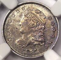 1832 CAPPED BUST HALF DIME H10C LM-3 - NGC AU DETAILS -  CERTIFIED COIN