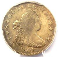 1801 DRAPED BUST DIME 10C COIN - CERTIFIED PCGS VF DETAILS -  - NEAR EXTRA FINE