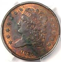 1835 CLASSIC HEAD HALF CENT 1/2C - PCGS UNCIRCULATED DETAIL UNC MS -  COIN