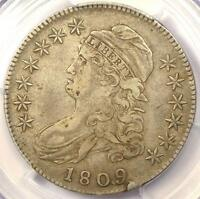 1809 CAPPED BUST HALF DOLLAR 50C O-111 - PCGS EXTRA FINE 40 EF40 -  CERTIFIED COIN