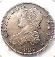 1829/7 CAPPED BUST HALF DOLLAR 50C - PCGS AU DETAILS -  OVERDATE COIN IN AU
