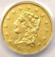 1834 CLASSIC GOLD QUARTER EAGLE $2.50   ANACS XF45 DETAILS EF45    COIN