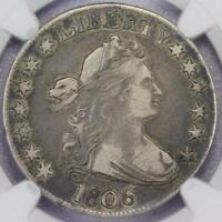 1806 DRAPED BUST HALF DOLLAR NGC VF20 - DOUBLEJCOINS - 609A13